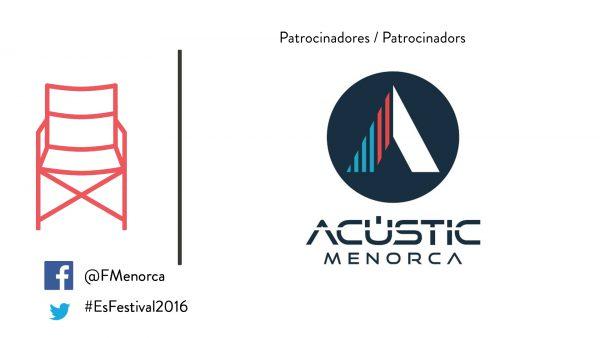 Acustic Menorca patrocinando cultura
