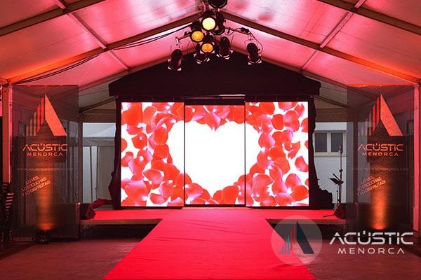 pantalla led corazones