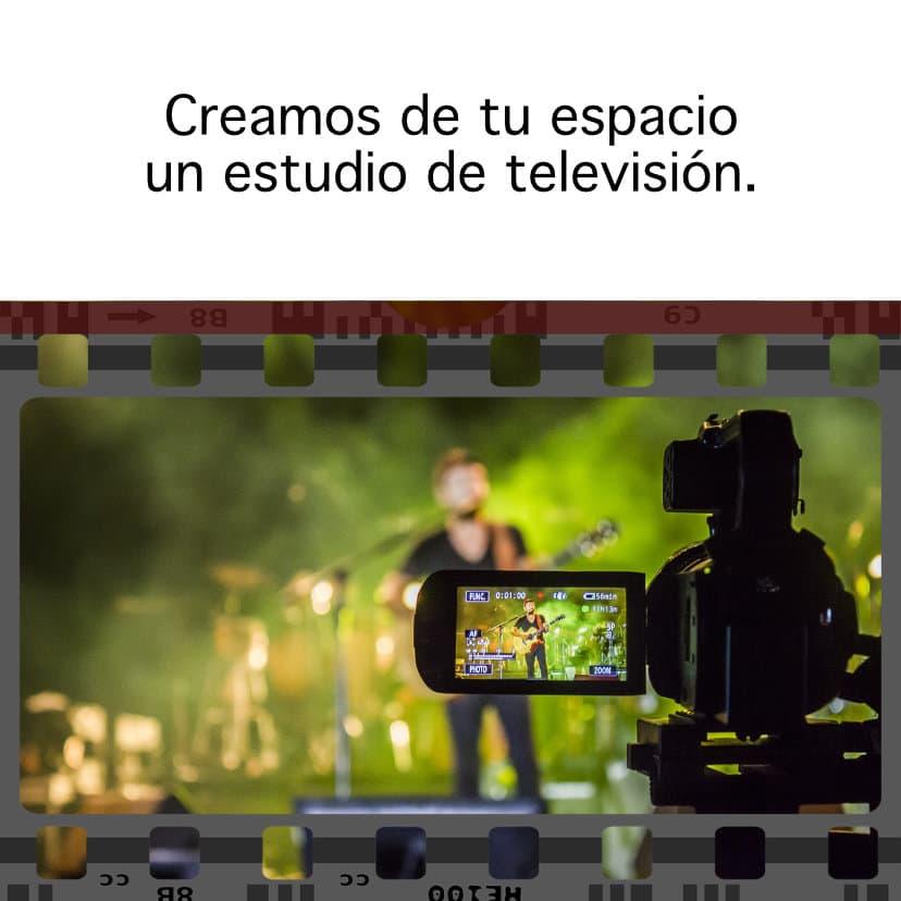 Creamos de tu espació un estudio de televisión
